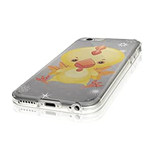 """Cute Animals 109, Duck, Ultrathin Crystal Soft TPU Gel Silicone Case Cover Skin Shell Protector with Textured Design for iPhone 6 4.7"""""""