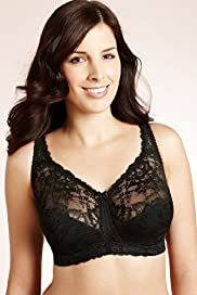 Jacquard Lace Total Support B-G Bra