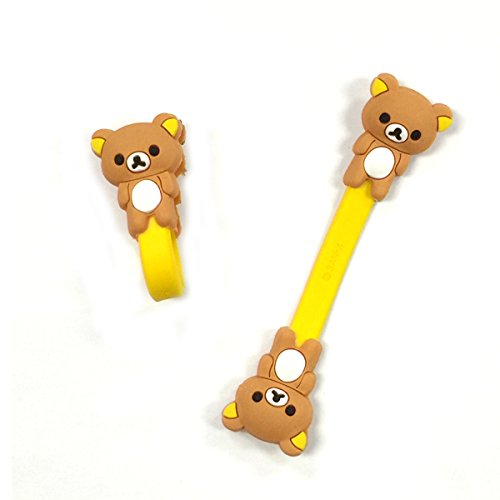 Wrapables Cute Animals Cord Organizer/Earphone Wrap, Bear - 1