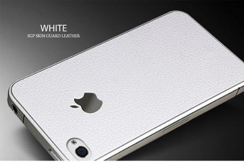 SPIGEN SGP アイフォン 4 / 4S スキンガード  ホワイト  液晶保護シートセット for iPhone 4 / 4S