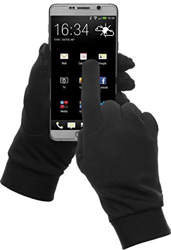 GearTOP Running Gloves Touchscreen for Women Men (Black, Large)
