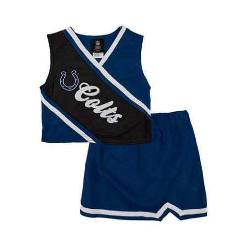 Reebok Two Piece Indianapolis Colts NFL Cheerleader Uniform Set (Size 2T to 4T)