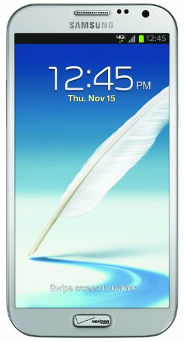 Samsung Galaxy Note II 4G Android Phone, Marble White (Verizon Wireless)