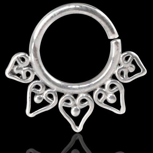 Septum Piercing Orientale da Setto Nasale in Argento Septum Ring Indian Ornamental Silver 2