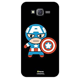 Hamee Marvel Samsung Galaxy J5 Case Cover Cute Captain America Look Black
