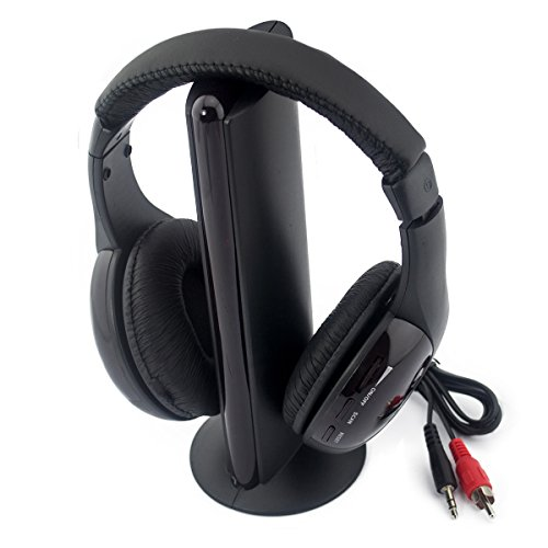 Ckeyin 5-in-1 Wireless / Wired Hi-Fi Stereo Headphone Headset with Audio Cable for MP3 / MP4 / PC / TV / FM Radio / DVD / VCD / etc