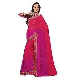radhika chiffon fabric saree with unstiched blouse