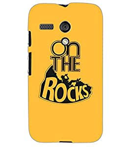 MOTOROLA MOTO G ON THE ROCKS Back Cover by PRINTSWAG