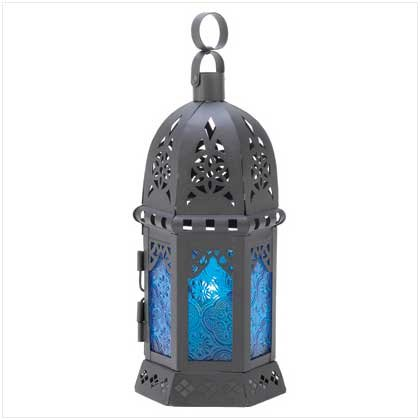 20 Ocean Blue Lantern Wedding Centerpieces
