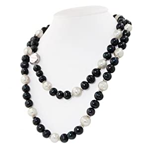 Click to buy Honora Pearl Necklaces: Jet Pearl Necklace from Amazon!