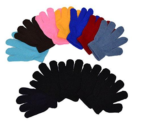 OPT Brand. 12 Pairs Wholesale Kids Children Knit Magic Gloves. USA Trademark Registered Code: 86522969.