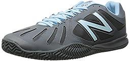 New Balance Men\'s MC60 Lightweight Tennis Shoe, Grey/Blue, 13 D US