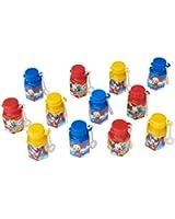 12-Piece Mickey Non-Toxic Bubble Solution, Mini, Multicolored