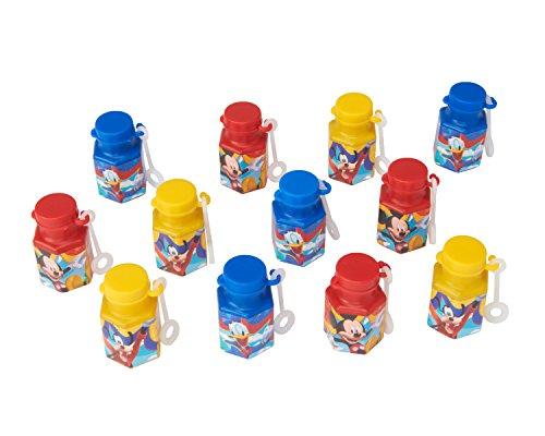 12-Piece Mickey Non-Toxic Bubble Solution, Mini, Multicolored - 1