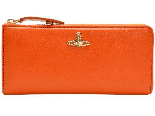 [ヴィヴィアン・ウエストウッド]ヴィヴィアン・ウエストウッド 財布 Vivienne Westwood 財布 L字ファスナー長財布 オレンジ レザー 32206a-vw192magazzino-orange 並行輸入品