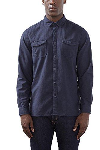 edc by ESPRIT 116CC2F006, Camicia Uomo, Blu (Blue), XX-Large