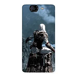 Delighted Riding Tree Multicolor Back Case Cover for Canvas Knight A350