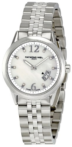 Raymond Weil Women's 5670-ST-05985 Freelancer White Mother-Of-Pearl Dial Watch