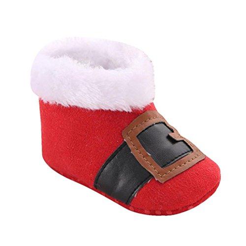 Kingko® Regalo di Natale del bambino del bambino del pattino infantile Snow Boots suola molle Prewalker greppia Scarpe Scarpe invernali Stivali per il neonato (12~18 mesi)