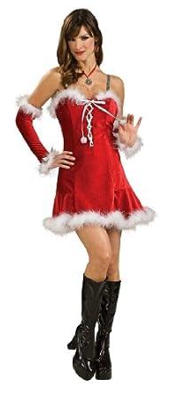 Rubie's Costume Women's Santa's Babydoll Dress, Red, X-Small