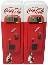Comprar salero y pimentero diseño de máquina de expendedora Coca-Cola, cerámica