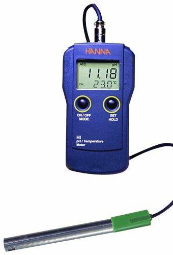 Hanna Instruments HI 99151 Portable Waterproof Portable  pH Meter/Temperature Meter For Beer