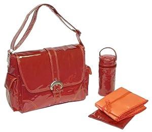 Kalencom Fashion Diaper Bag, Changing Bag, Nappy Bag, Mommy Bag, Laminated Buckle Bag (Red Corduroy)