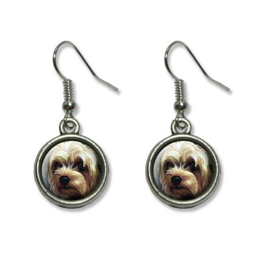 Yorkshire Terrier - Yorkie Dog Pet Novelty Dangling Dangle Drop Charm Earrings 3d Yorkie Dog Charm