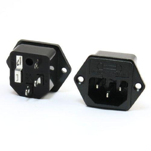 2 Stücke IEC320 C14 Elektronischer Dampfgarer Rückstaukl Steckdose + Sicherung