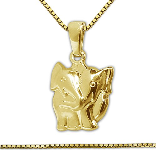 clever-schmuck-set-midas-gold-333-pendant-with-real-matt-glossy-elefantenpaar-venezia-gilded-chain-4