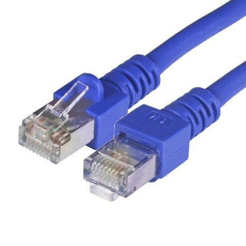BIGtec 2m CAT.5e Ethernet LAN Patchkabel Gigabit Netzwerkkabel Patch Kabel blau folien und geflechtgeschirmt (RJ45, Cat 5e, SFTP doppelt geschirmt , Screened Foiled Twisted Pair, 1000 Mbit/s) 2 x RJ45 Stecker ideal für Switch , DSL Verbindungen , Patchfelder , Patchpanel , Router , Modem , Access Point und andere Geräte mit RJ45 Anschluß ,CAT Kabel KAT Kabel CAT5 CAT 5e , geschirmtes Patchkabel SF/UTP