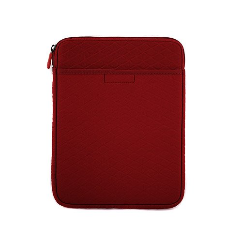 FLEECE Vertical Padded Case with Extra Pocket (Red) for the Apple iPad 2 WiFi / 3G Model 16GB, 32GB, 64GB