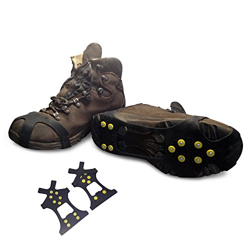 Snow Ice Traction Shoe Walking Running Cleats Rubber Anti No