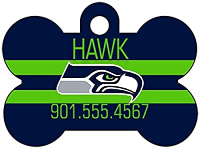 Seattle Seahawks Dog Tag Pet Id Tag Personalized w/ Name & Number