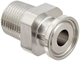 Dixon 21MP-R50 Stainless Steel 316L Sanitary Fitting, Clamp Adapter, 1/2\