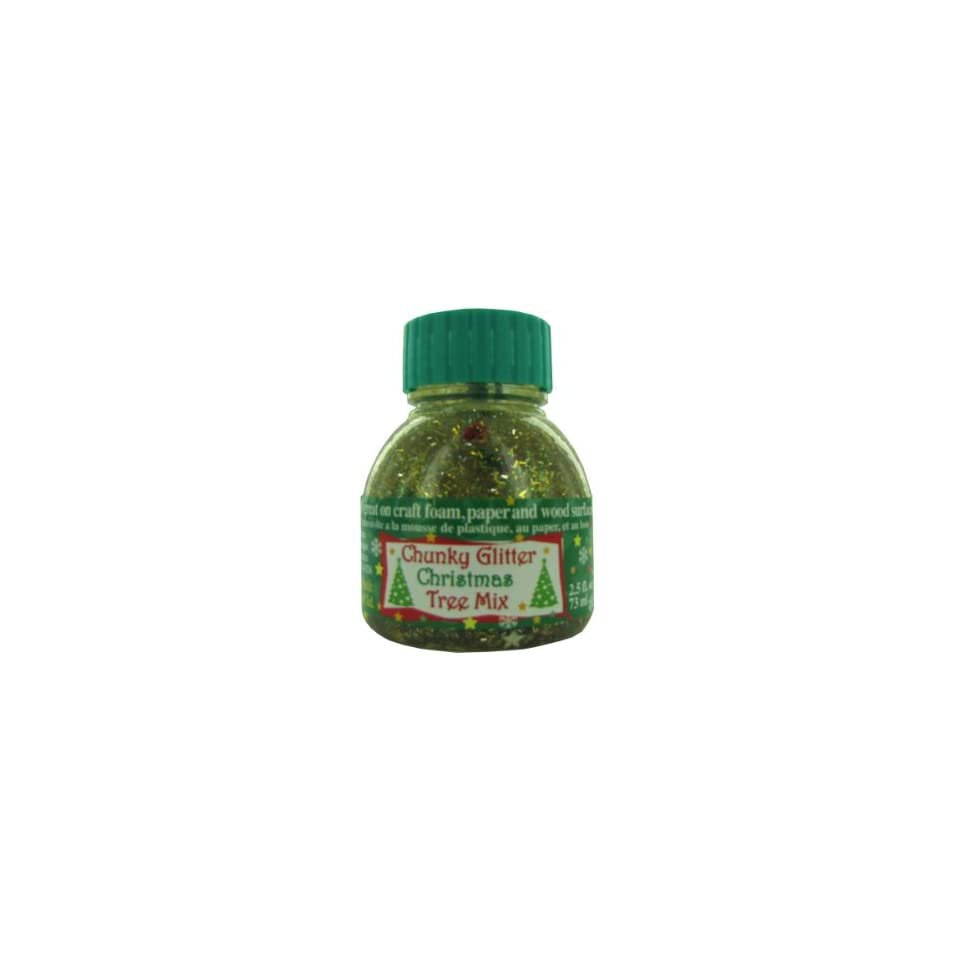 Bulk Pack of 72   chunky glitter christmas tree mix 2.5 fl. oz. (Each) By Bulk Buys