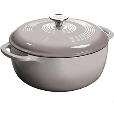 Lodge 6-Quart Dutch Oven, Grey