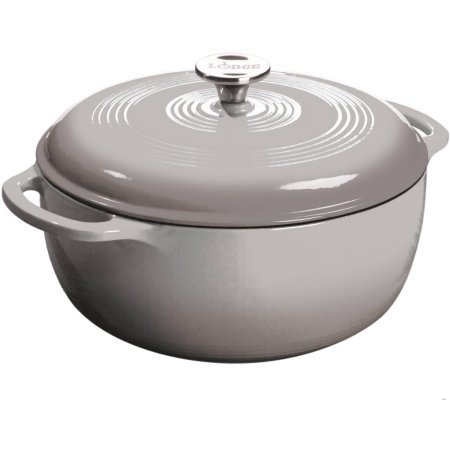 Lodge 6-Quart Dutch Oven, Grey (Lodge Cast Iron Small Dutch Oven compare prices)
