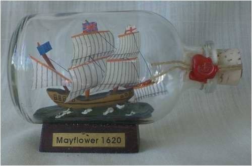 Mayflower Mini Buddelschiff 50