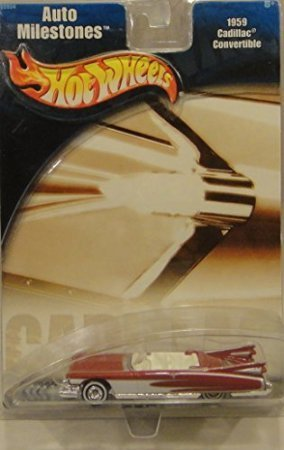 HOT WHEELS AUTO MILESTONES RED 1959 CADILLAC CONVERTIBLE DIE-CAST - 1