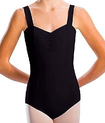 Motionwear Women's Wide Strap Cami Leotard XL BLACK