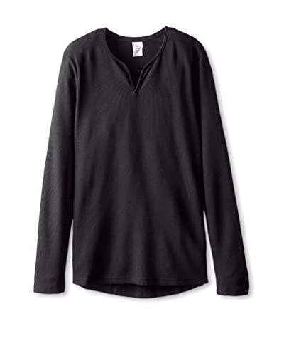 Bread & Boxers Men's Thermal Henley Long Sleeve Shirt