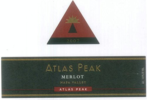 2007 Atlas Peak Merlot, Atlas Peak Mtn 750 Ml