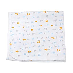 Bamboo AdBalloon Double Layers Cotton Swaddle blanket Baby nursery-receiving Blue