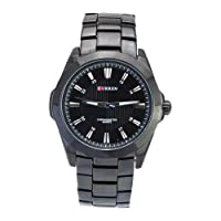 Central World CURREN 8109 Leisure Style Water-proof Stainless Steel Japan Quartz Movement Men's Watch-Black Band and Dial