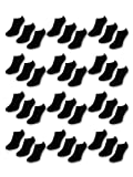 10 bis 50 Paar Comfort Sneaker Socken - Schwarz &