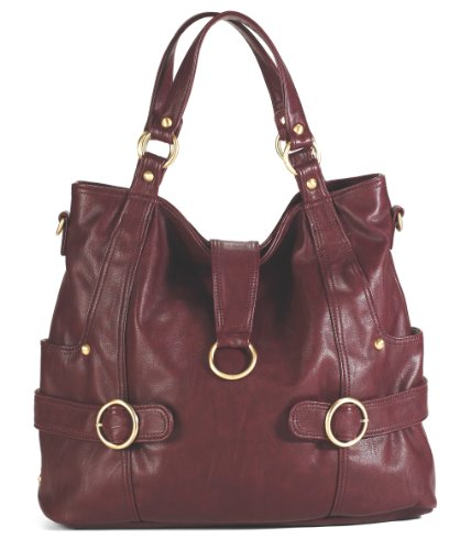 Timi & Leslie Hannah Diaper Bag, Burgundy back-572840