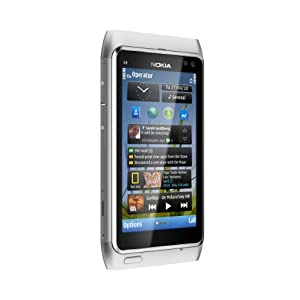 Nokia N8 Unlocked GSM Touchscreen Phone Featuring GPS with Voice Navigation and 12 MP Camera--U.S. Version with Warranty (Silver/White)