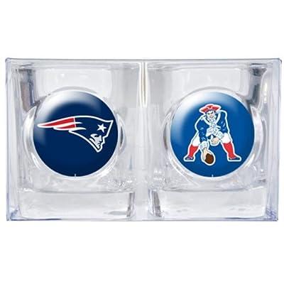 NFL New England Patriots Primary Logo Square Shot Glass Set-2 Pack