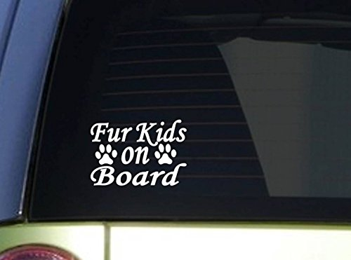 Furkids on Board *I935* 6x6 Inch sticker dog decal